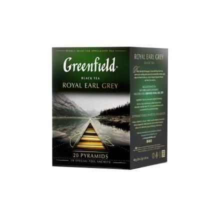 Чай черный в пирамидках Greenfield Royal Earl Grey 20 пакетиков