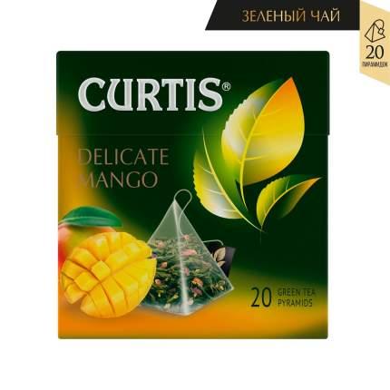 Чай Curtis Delicate Mango зеленый с добавками 20 пирамидок