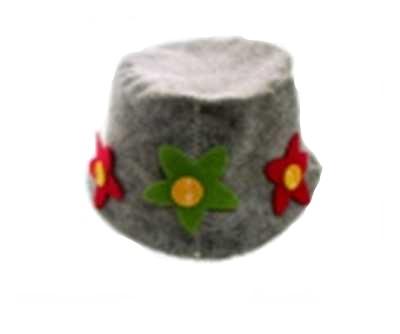 Шляпка женская для бани и сауны
