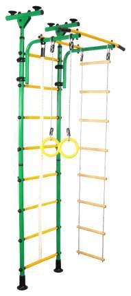 Детский спортивный комплекс «Юный АТЛЕТ Пол-потолок», цвет зелёный Юный Атлет