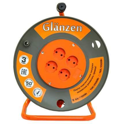 Удлинитель силовой Glanzen ЕВ-50-003 ПВС 2х1 4 розетки 50 м