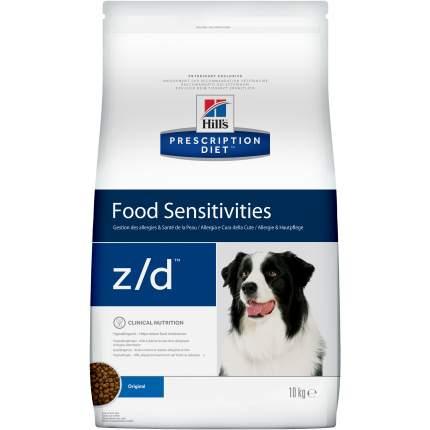 Сухой корм для собак Hill's Prescription Diet z/d Food Sensitivities Original, мясо, 10кг