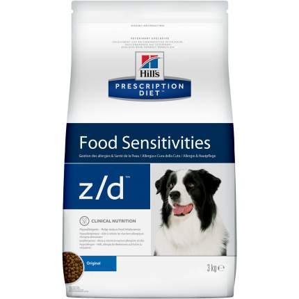 Сухой корм для собак Hill's Prescription Diet z/d Food Sensitivities Original, мясо, 3кг