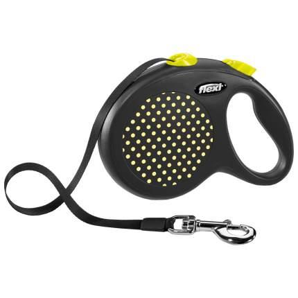 Поводок-рулетка Flexi Design L, желтый