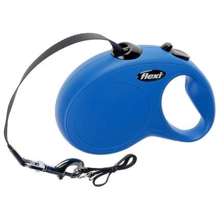 Поводок-рулетка для собак Flexi New Classic L, синий