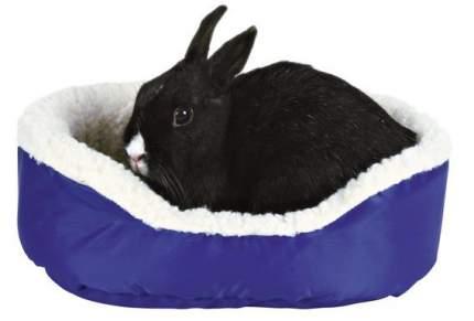 Лежанка для кроликов TRIXIE бортик искусственный мех, нейлон 28x35см серый, зеленый