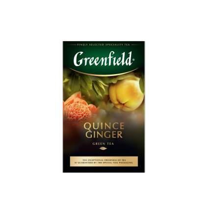 Чай зеленый листовой Greenfield Quince Ginger 100 г