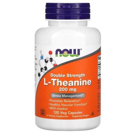 Теанин NOW Theanine 200 мг вег. капсулы 120 шт.
