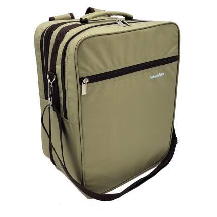 Рюкзак-трансформер для ручной клади Pobedabags 36x30x27 браун
