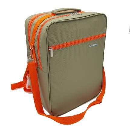 Рюкзак-трансформер для ручной клади Pobedabags 36x30x27 бежевый