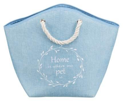 Домик для собак TRIXIE Emma, голубой, белый, 52x25x39см