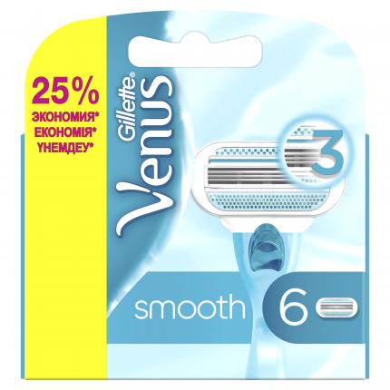 Сменные кассеты для бритвы Venus Smooth 6 шт