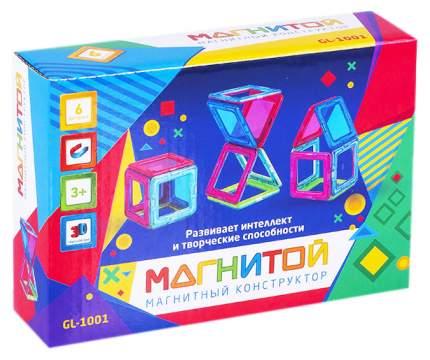Магнитой GL-1001 Конструктор магнитный 6 квадратов (2 - с окном)