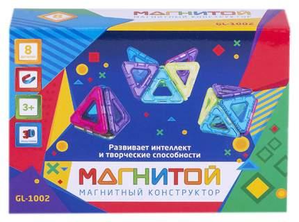 Магнитой GL-1002 Конструктор магнитный 8 треугольников (2 - с окном)