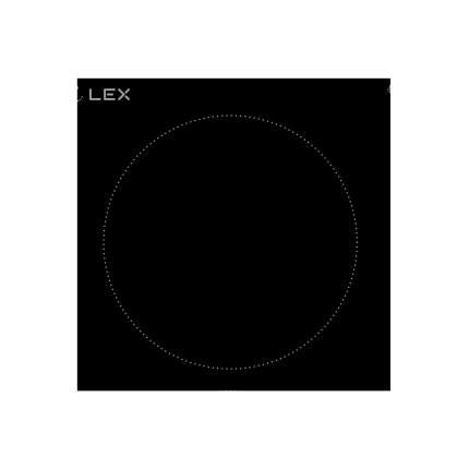 Встраиваемая варочная панель электрическая LEX EVH 320 BL Black