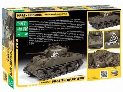 Сборная модель ZVEZDA Шерман М4А2 Американский средний танк 1/35