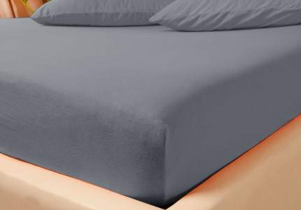 Простыня Kupu-Kupu VIOLETT трикотажная на резинке 90х200х25 KPM-90 графит