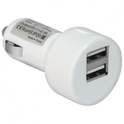 Автомобильное зарядное устройство Defender UCA-15 белый (83562)