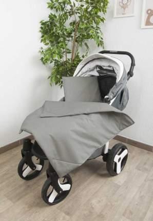 Комплект в коляску Сонный гномик Пшено серый, 3 предмета