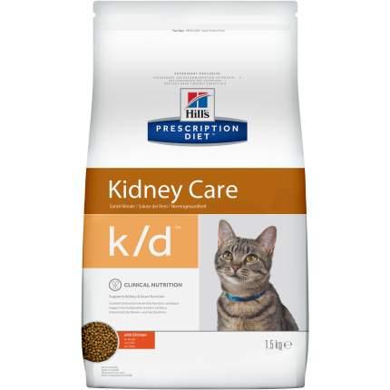Сухой корм для кошек Hill's Prescription Diet Kidney Care, при патологии почек, 1,5кг