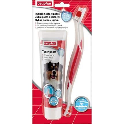 Набор для ухода за зубами собак Beaphar Dog-a-Dent зубная щетка+паста