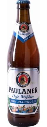 Пиво  Paulaner Hefe-Weissbier безалкогольное стекло 0.5 л