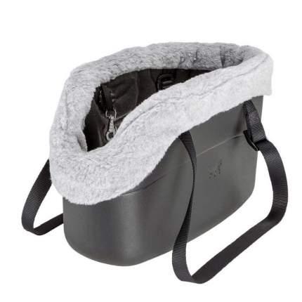 Чехол для сумки-переноски Ferplast With-Me с мехом, серый, 21,5х43,5х27 см