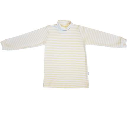 Водолазка детская Папитто полоска для девочки цв. бело-желтый р. 34-122, 63-231-9