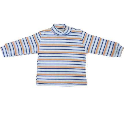 Водолазка детская Папитто полоска для мальчика цв. бел/оранж/гол р.32-116, 63-232-2