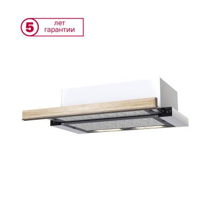 Вытяжка встраиваемая KRONAsteel Kamilla 600 Wood 2M White/Beige