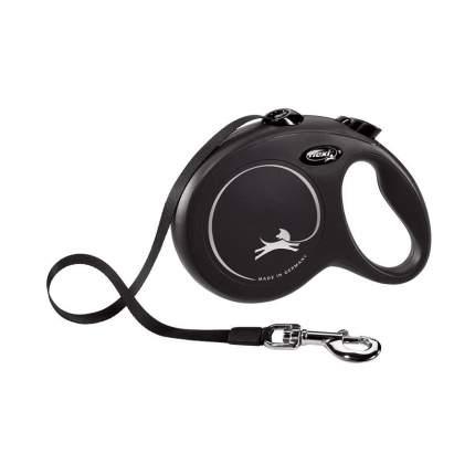 Поводок-рулетка для собак flexi New Classic L, черный, 5 м