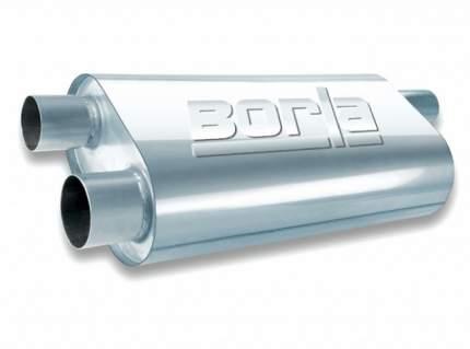 """Глушитель универсальный Borla 40477, овал, сер. Transverse Flow, Вход 2,25""""/Выход 2х2.5"""","""