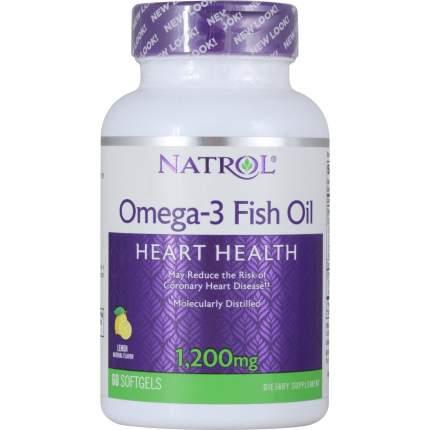 Natrol Omega-3 Fish Oil 1200mg 60caps (60 софтгелей)