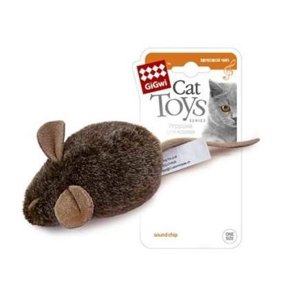 Мягкая игрушка для кошек GiGwi Мышка с электронным чипом, 15 см