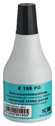 Краска штемпельная NORIS 199Сч, чёрная, 50 мл, (пласт,камень,резина,фольга)