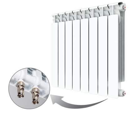 Биметаллический радиатор Rifar Alp Ventil 500 \ 08 секций \ с нижним правым подключением