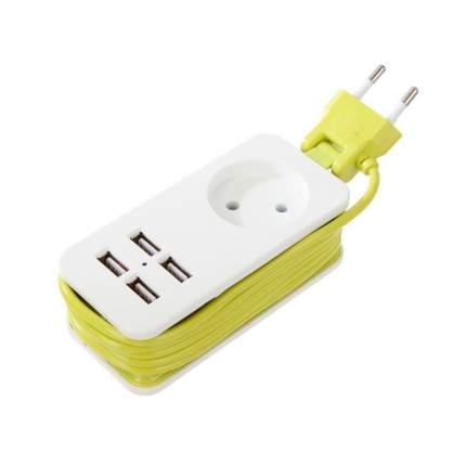 Удлинитель Uniel Travel 1 Socket 2 White, 4 USB, 1,3 м (S-CT1-1.5U)