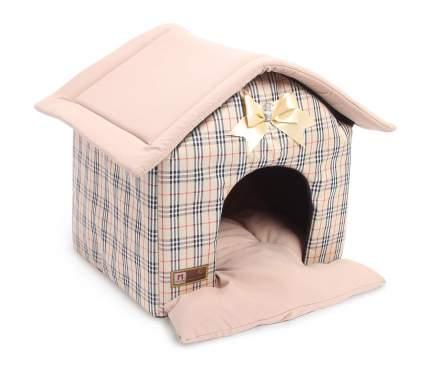Домик для кошек и собак ЗООГУРМАН Ампир бежевая клетка, 40x45x45см