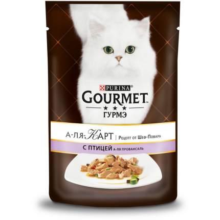 Влажный корм для кошек Gourmet A la Carte, с птицей а-ля провансаль, 24шт по 85г