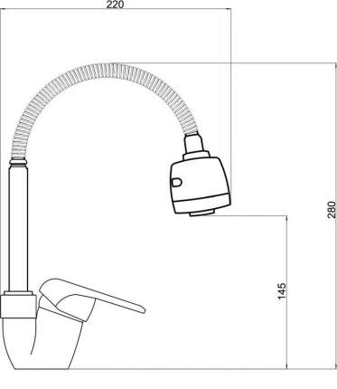 Смеситель для кухни WATER JET KF-I29