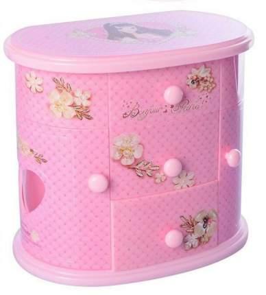 Шкатулка музыкальная механическая «Комод принцессы», розовая, 17,5 × 20 × 11 см Sima-Land