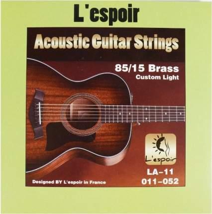 Струны для акустических гитар Lespoir La-l11