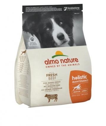Сухой корм для собак Almo Nature Holistic Medium, говядина, рис, 2кг