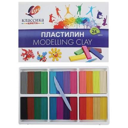 "Пластилин Луч ""Классика"" 24 цвета"