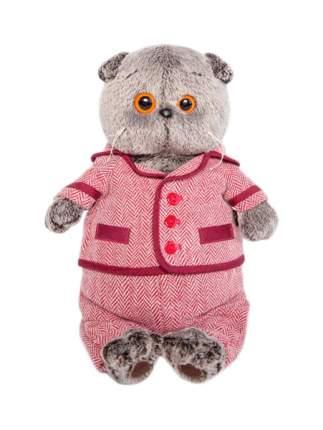 """Мягкая игрушка """"Басик"""" в красном пиджаке и брюках в ёлочку, 30 см Басик и Ко"""