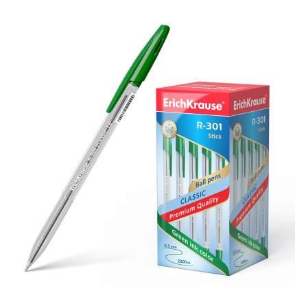 Ручка шариковая ErichKrause® R-301 Classic Stick 1.0 зеленая