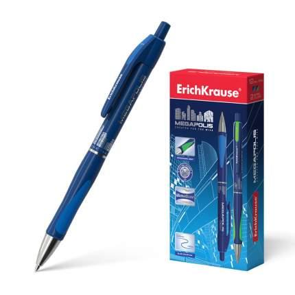 Ручка шариковая автоматическая ErichKrause® MEGAPOLIS Concept, синий в коробке 12 шт