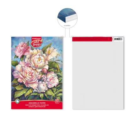 Альбом для рисования с бумагой для акварели на клею ArtBerry® Пионы, А4, 10 листов