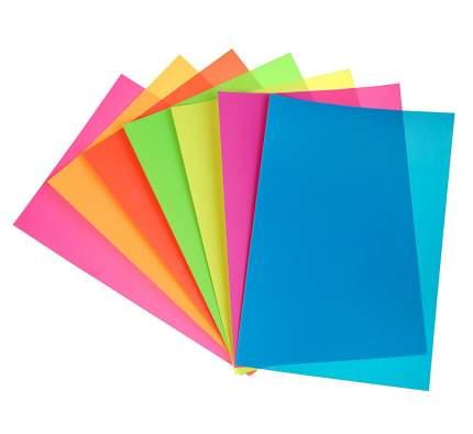 Бумага самоклеящаяся ErichKrause Artberry B5 флуоресцентная 7 листов 7 цветов мелованная