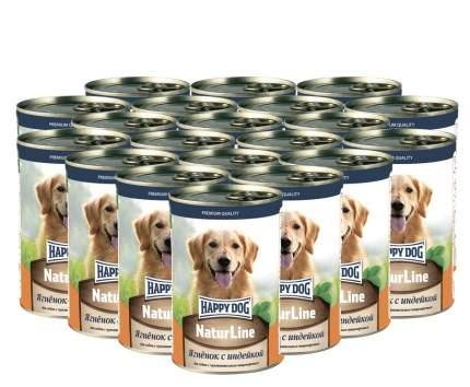 Консервы для собак Happy Dog Natur Line, индейка, ягненок, 10шт по 410г